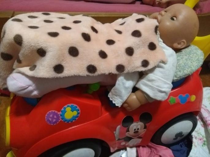 Vauva kyydissä